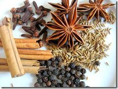 Healthy spices and nuts