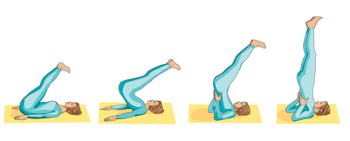 Sarvangasana Steps for Weight Gain and Muscle Mass