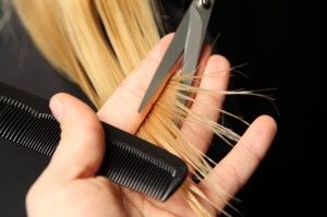 splitEndHaircut 300x199 How to get rid of split ends:home made hair packs and useful tips