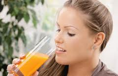 drink lots of juices to put on weight