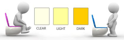 Urine color associated with health