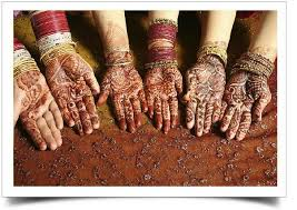 Mehendi- cools down our body and cures any cuts or scars.